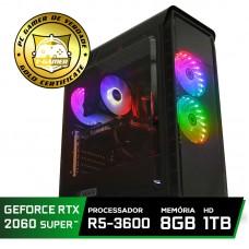 Pc Gamer Super Tera Edition AMD Ryzen 5 3600 / GeForce RTX 2060 Super / DDR4 8GB / HD 1TB / 600W / RZ3