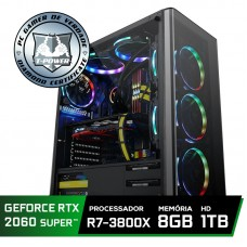 Pc Gamer Super Tera Edition AMD Ryzen 7 3800X / GeForce RTX 2060 Super / DDR4 8GB / HD 1TB / 600W