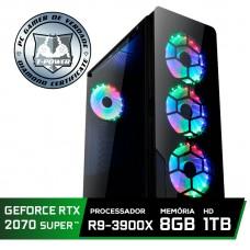 Pc Gamer Super Tera Edition AMD Ryzen 9 3900X / GeForce RTX 2070 Super / DDR4 8GB / HD 1TB / 600W