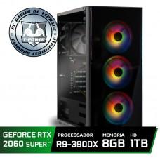 Pc Gamer Super Tera Edition AMD Ryzen 9 3900X / GeForce RTX 2060 Super / DDR4 8GB / HD 1TB / 600W