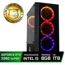 Pc Gamer Super Tera Edition Intel Core i5 8400 / GeForce RTX 2060 Super / DDR4 8Gb / HD 1TB / 600W