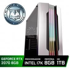 Pc Gamer Super Tera Edition Intel Core I7 8700K / GeForce RTX 2070 / DDR4 8Gb / HD 1TB / 600W
