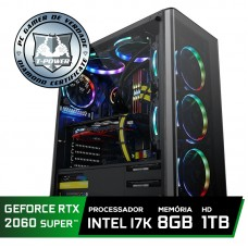 Pc Gamer Super Tera Edition Intel Core I7 8700K / GeForce RTX 2060 Super / DDR4 8Gb / HD 1TB / 600W