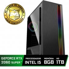 Pc Gamer Super Tera Edition Intel Core i5 9400F / GeForce RTX 2060 Super / DDR4 8Gb / HD 1TB / 500W