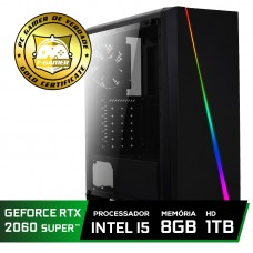 Pc Gamer Super Tera Edition Intel Core i5 9400F / GeForce RTX 2060 Super / DDR4 8Gb / HD 1TB / 500W