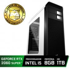 Pc Gamer Super Tera Edition Intel Core i5 9400F / GeForce RTX 2060 Super / DDR4 8Gb / HD 1TB / 600W