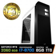 Pc Gamer T-Captain LVL-4 Intel i7 8700 / GeForce RTX 2060 6GB / DDR4 8GB / HD 1TB / 600W