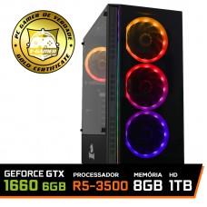 Pc Gamer T-Chaos Lvl-2 AMD Ryzen 5 3500 / GeForce GTX 1660 6GB / DDR4 8GB / HD 1TB / 500W