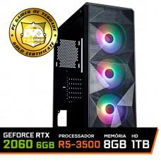 Pc Gamer T-Chaos Lvl-4 AMD Ryzen 5 3500 / GeForce RTX 2060 6GB / DDR4 8GB / HD 1TB / 600W