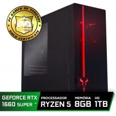 Pc Gamer T-Commander LVL-3 Amd Ryzen 5 2600 / GEFORCE GTX 1660 SUPER 6GB / DDR4 8Gb / HD 1TB / 500W