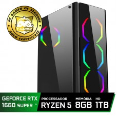 Pc Gamer T-Commander LVL-3 Amd Ryzen 5 2600 / GEFORCE GTX 1660 SUPER 6GB / DDR4 8Gb / HD 1TB / 500W