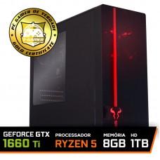 Pc Gamer T-Commander LVL-3 Amd Ryzen 5 2600 / GEFORCE GTX 1660 Ti 6GB / DDR4 8Gb / HD 1TB / 500W