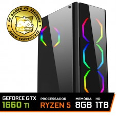 Pc Gamer T-Commander LVL-3 Amd Ryzen 5 2600 / GEFORCE GTX 1660 Ti 6GB / DDR4 8Gb / HD 1TB / 500W