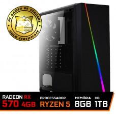 Pc Gamer T-Commander Lvl-5 Amd Ryzen 5 2600 / RADEON RX 570 4GB / DDR4 8GB / HD 1TB / 500W