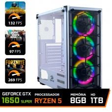 Pc Gamer T-Commander Lvl-1 Amd Ryzen 5 3400G / Geforce GTX 1650 Super / DDR4 8GB / HD 1TB / 500W