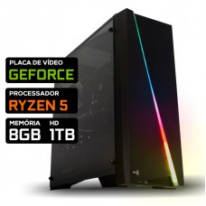 Pc Gamer T-Commander Lvl-1 Amd Ryzen 5 / Nvidia GeForce / DDR4 8GB / HD 1TB