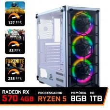 Pc Gamer T-Commander Lvl-2 Amd Ryzen 5 3400G / Radeon RX 570 4GB / DDR4 8GB / HD 1TB / 500W