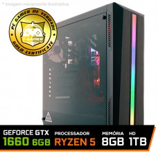 Pc Gamer T-Commander Lvl-5 Amd Ryzen 5 2600 / Geforce GTX 1660 6GB / DDR4 8GB / HD 1TB / 500W