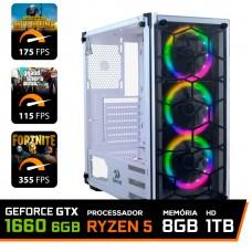 Pc Gamer T-Commander Lvl-5 Amd Ryzen 5 2600 / Geforce GTX 1660 6GB / DDR4 8GB / HD 1TB / 500W