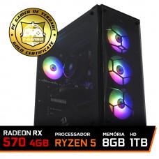 Pc Gamer T-Commander Lvl-6 Amd Ryzen 5 3500 / Radeon RX 570 4GB / DDR4 8GB / HD 1TB / 500W