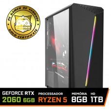 Pc Gamer T-Commander LVL-4 AMD Ryzen 5 2600 / GeForce RTX 2060 6GB / DDR4 8GB / HD 1TB / 600W