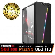 Pc Gamer T-Commander LVL-6 AMD Ryzen 5 2600 / RADEON RX 580 8GB / DDR4 8GB / HD 1TB / 500W