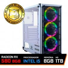 Pc Gamer T-Blade LVL-2 Intel Core i5 10400F / Radeon RX 580 8GB / DDR4 8GB / HD 1TB / 600W