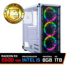 Pc Gamer T-Blade LVL-3 Intel Core i5 10400 / Radeon RX 5500 XT 4GB / DDR4 8GB / HD 1TB / 600W