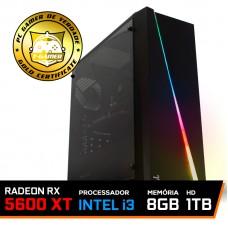 Pc Gamer T-Rival LVL-5 Intel Core i3 10100 / Radeon RX 5600 XT 6GB / DDR4 8GB / HD 1TB / 600W