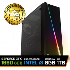 Pc Gamer T-Rival LVL-6 Intel Core i3 10100 / GeForce GTX 1660 6GB / DDR4 8GB / HD 1TB / 500W