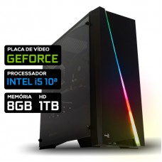 Pc Gamer Super T-Soldier LVL-1 Intel Core i5 10ª / Nvidia Geforce / DDR4 8GB / HD 1TB