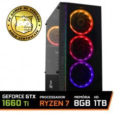 Pc Gamer T-General Lvl-3 AMD Ryzen 7 2700 / GeForce GTX 1660 Ti 6GB / DDR4 8GB / HD 1TB / 500W