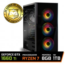 Pc Gamer T-General Lvl-3 AMD Ryzen 7 2700 / GeForce GTX 1660 Ti 6GB / DDR4 8GB / HD 1TB / 500W