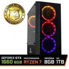 Pc Gamer T-General Lvl-2 AMD Ryzen 7 2700 / GeForce GTX 1660 6GB / DDR4 8GB / HD 1TB / 500W