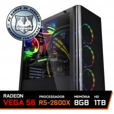 Pc Gamer T-Power Major Edition AMD Ryzen 5 2600x / Radeon Vega 56 / DDR4 8GB / HD 1TB / 600W