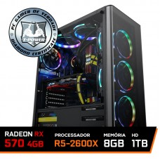 Pc Gamer T-Power Major Edition AMD Ryzen 5 2600x / Radeon Rx 570 4GB / DDR4 8GB / HD 1TB / 500W