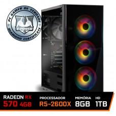 Pc Gamer T-Power Major Edition AMD Ryzen 5 2600x / Radeon Rx 570 4GB / DDR4 8GB / HD 1TB / 500W