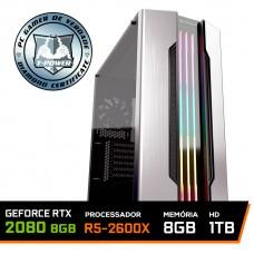 PC Gamer T-Power Major LVL-4 AMD Ryzen 5 2600X 3.6GHz / Geforce Rtx 2080 8gb / 8GB DDR4 / HD 1TB / 700W
