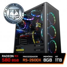 Pc Gamer T-Power Major Lvl-5 Amd Ryzen 5 2600x / Radeon Rx 580 8GB / DDR4 8Gb / Hd 1Tb / 500W