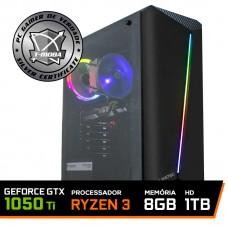 Pc Gamer T-Moba Dominator LVL-1 AMD Ryzen 3 3200G / Geforce GTX 1050 Ti 4GB / DDR4 8GB / HD 1TB