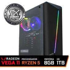 Pc Gamer T-Moba Furios Lvl-2 AMD Ryzen 5 3400G / DDR4 8GB / HD 1TB