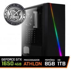 Pc Gamer T-moba Furious LVL-3 AMD Athlon 200GE / Geforce Gtx 1650 4GB / DDR4 8GB / HD 1TB / 500W