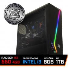 Pc Gamer T-moba Gladiator LVL-4 Intel I3 9100F / Radeon Rx 550 4GB / DDR4 8GB / HD 1TB