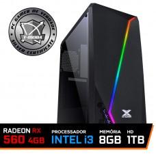 Pc Gamer T-moba Gladiator LVL-3 Intel I3 9100F / Radeon Rx 560 4GB / DDR4 8GB / HD 1TB / 500W