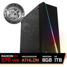 Pc Gamer T-Moba Super Furious LVL-6 AMD Athlon 3000G / Radeon RX 570 4GB  / DDR4 8GB / HD 1TB