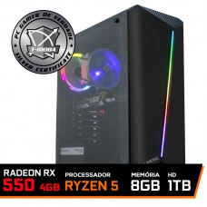 Pc Gamer T-Moba Ultimate Lvl-2 AMD Ryzen 5 3400G / Radeon Rx 550 4GB / DDR4 8GB / HD 1TB