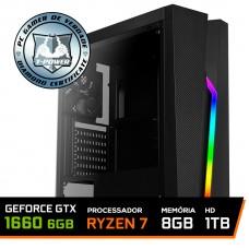 Pc Gamer T-Power Colonel Lvl-1 AMD Ryzen 7 2700 / Geforce GTX 1660 6GB / DDR4 8GB / HD 1TB / 600W