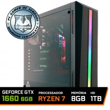 Pc Gamer T-Power Colonel Lvl-1 AMD Ryzen 7 2700 / Geforce GTX 1660 6GB / DDR4 8GB / HD 1TB / 600W