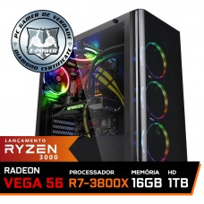 Pc Gamer T-Power Destroyer Lvl-1 AMD Ryzen 7 3800X / Radeon Vega 56 8GB / DDR4 16GB / HD 1TB / 600W