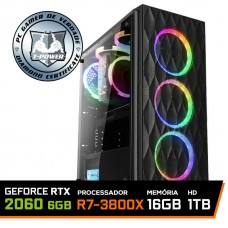 Pc Gamer T-Power Destroyer Lvl-2 AMD Ryzen 7 3800X / Geforce RTX 2060 6GB / DDR4 16GB / HD 1TB / 600W